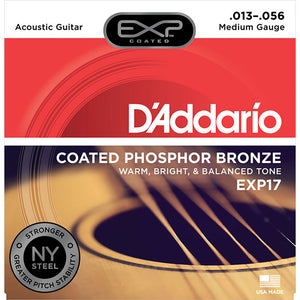 Daddario 13-56 Medium Coated Phosphor Bronze Acoustic