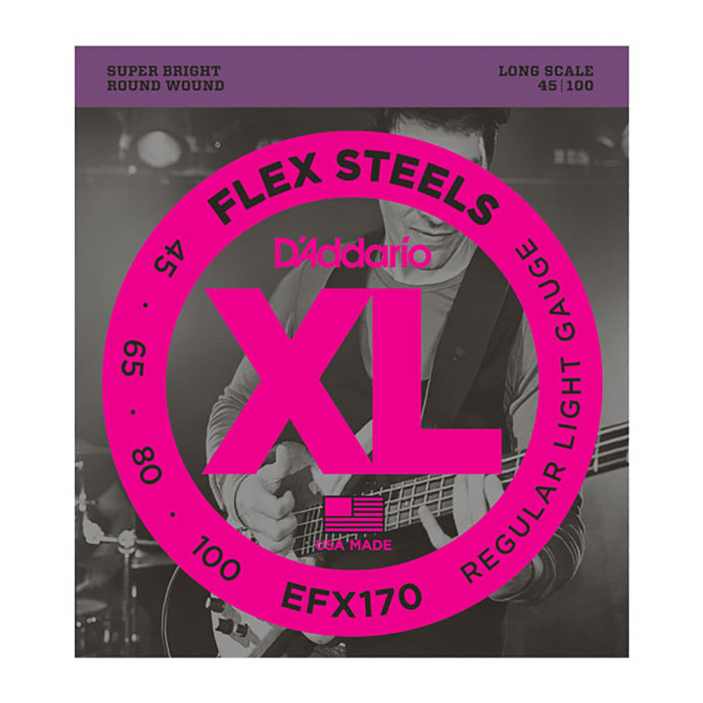 Daddario 45-100 Light Flexsteels Long Scale Bass Strings