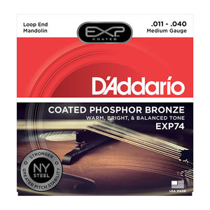 Daddario Medium Coated Phosphor Bonze Mandolin Strings