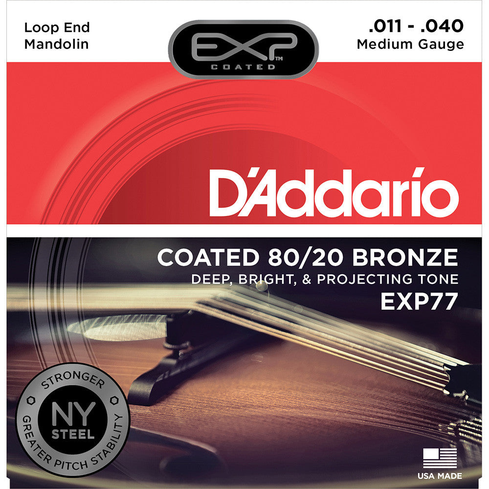 Daddario Medium 80/20 Bronze Coated Mandolin Strings