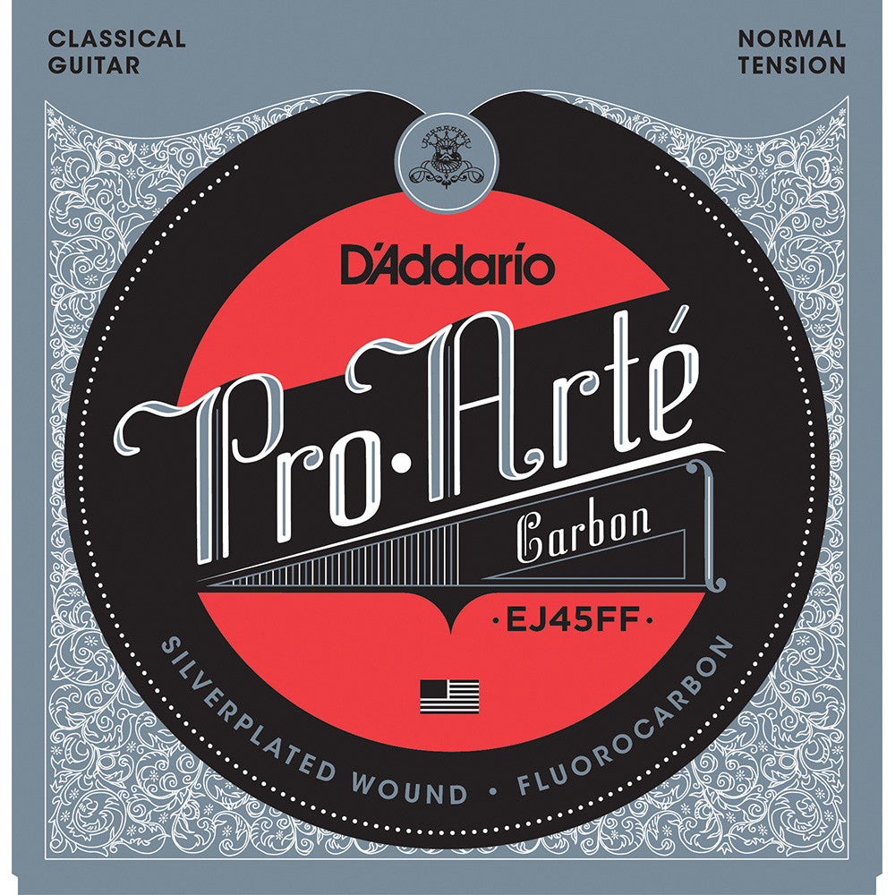 Daddario Pro-Arte Carbon Classical Strings With Dynacore Basses Normal Tension