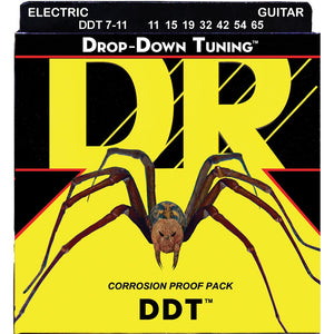 DR Drop Down Tuning Electric Guitar 7 String 11-65