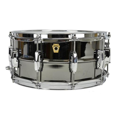 "Ludwig 6.5x14"" Black Beauty Brass Shell Snare - Smooth Shell - Imperial Lugs"