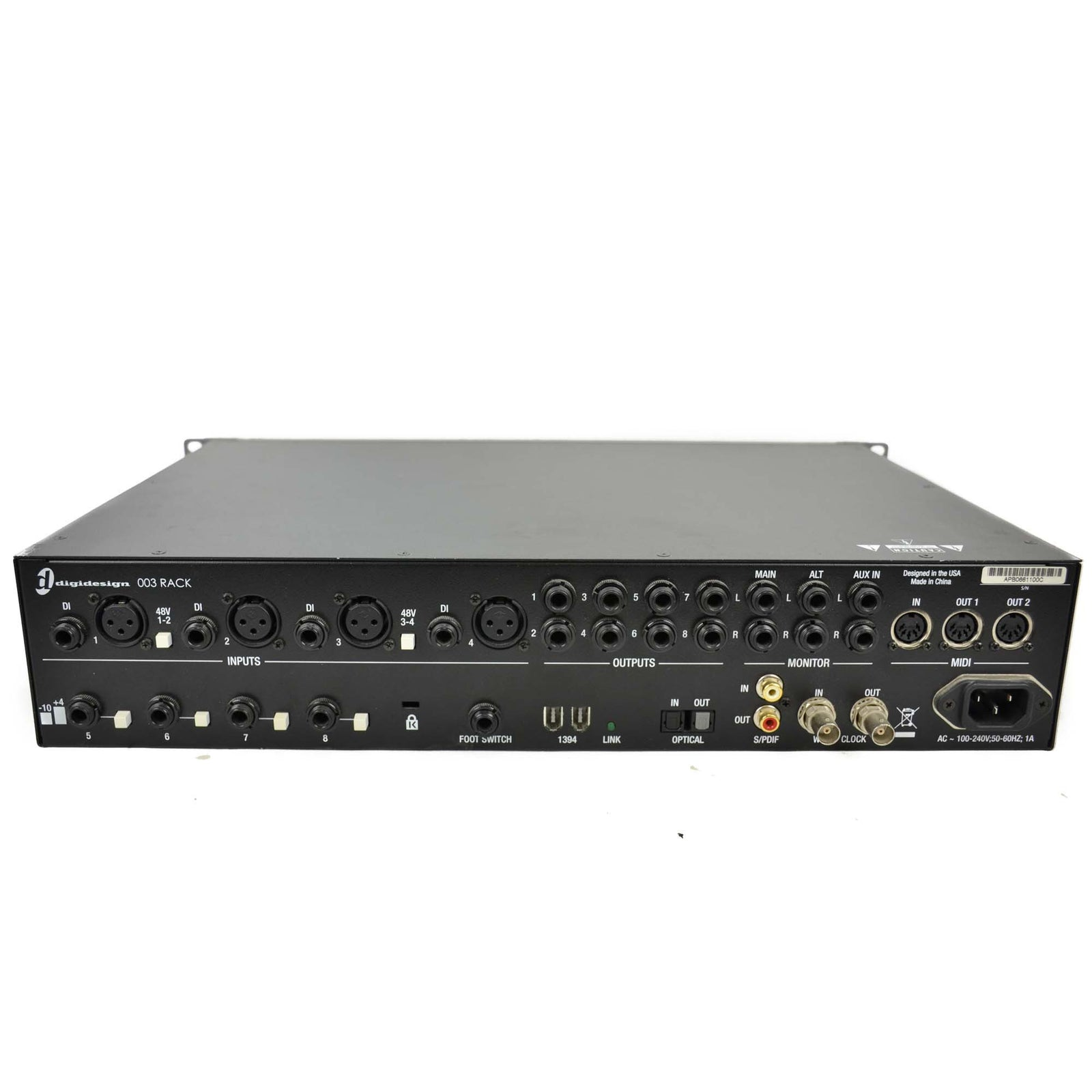 Used Digidesign 003 Rack Firewire Audio Interface