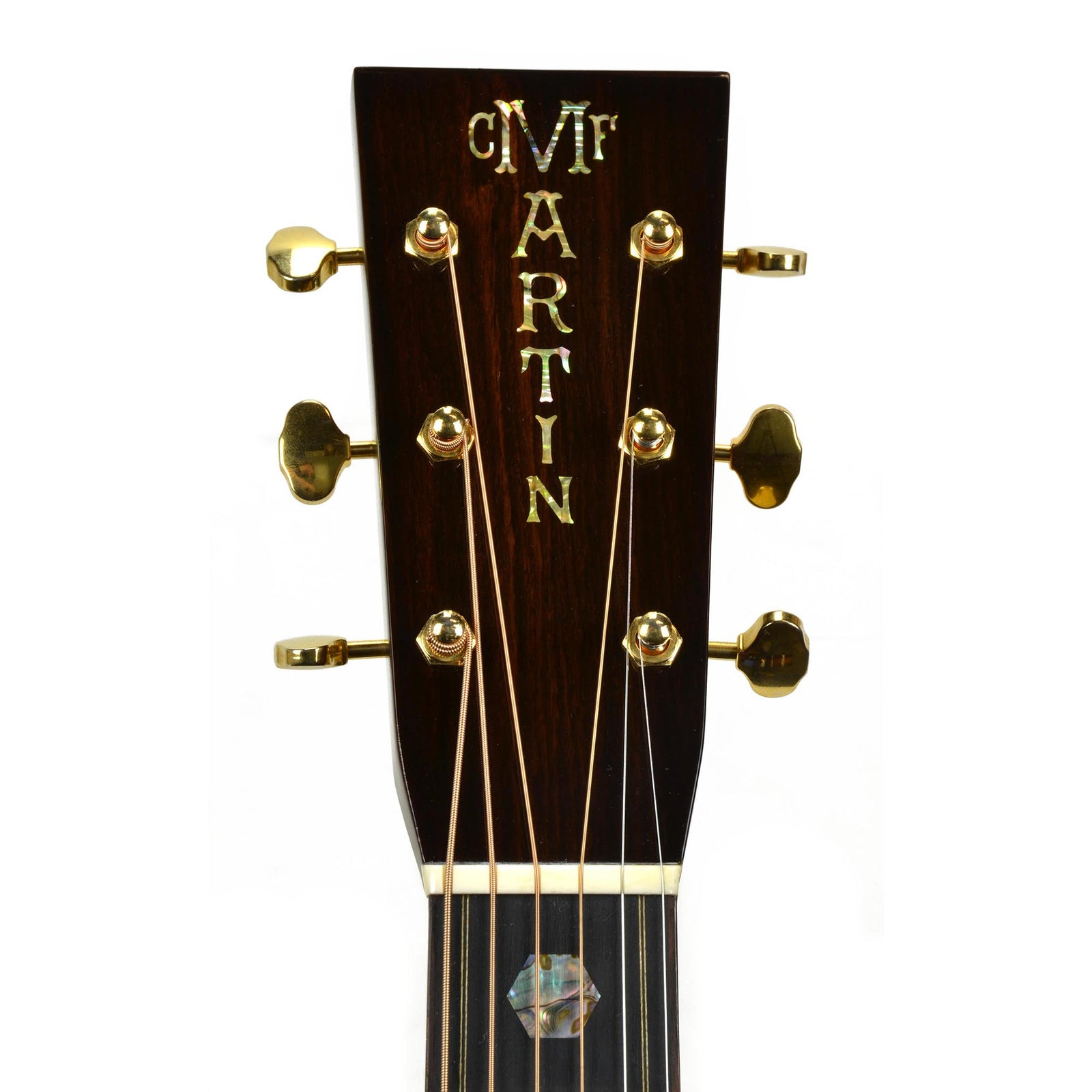 Used Martin Custom Shop 0000 Size 14 Fret Venetian Cutaway Ambertone Top