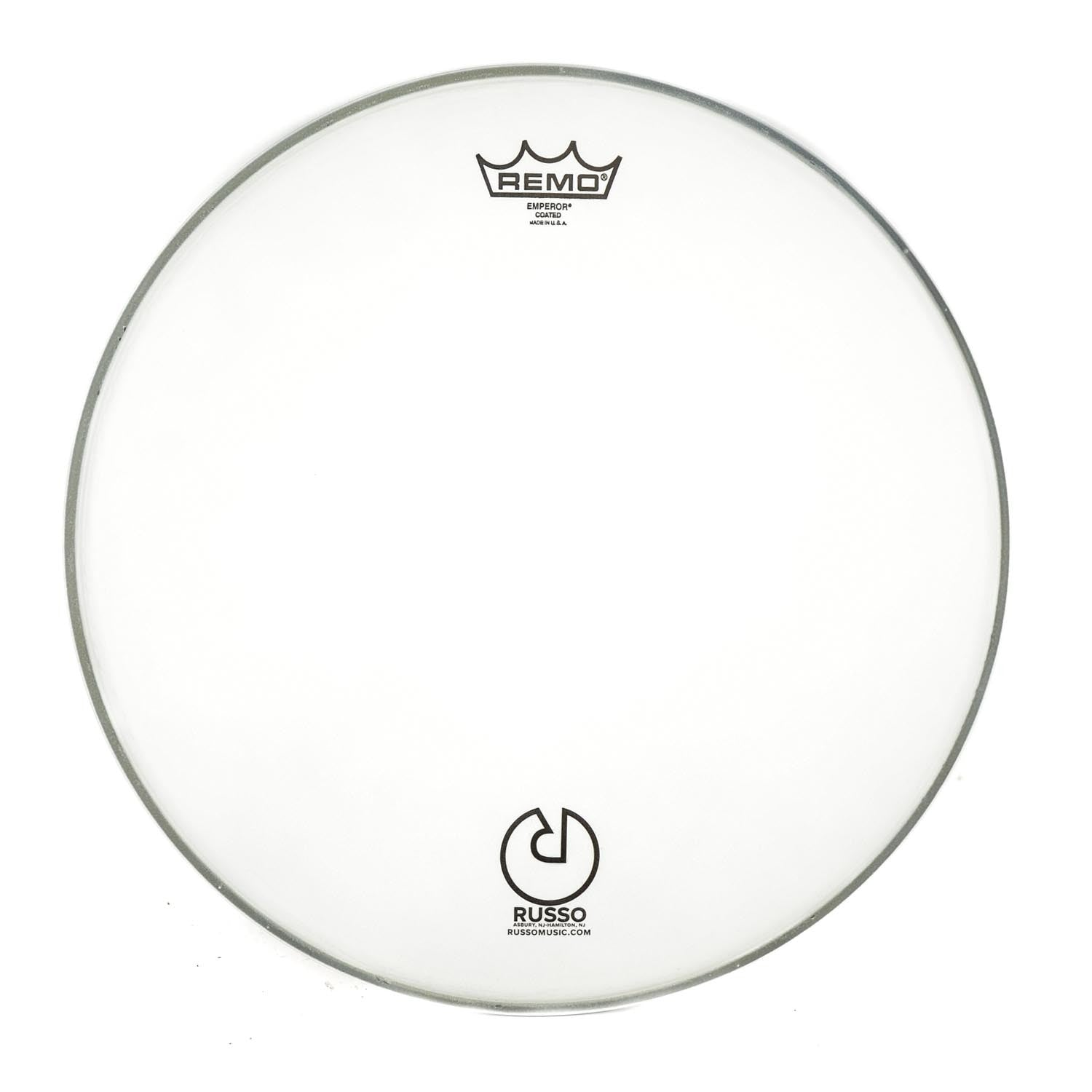 "Remo 13"" Coated Emperor With Russo Logo"