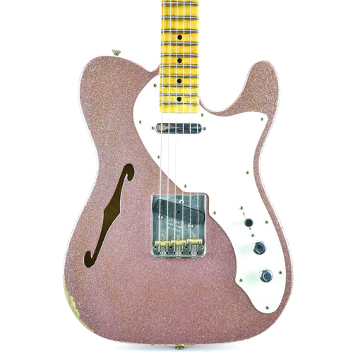 Fender Custom Shop 50s Thinline Relic 2017 NAMM Limited - Champagne Sparkle