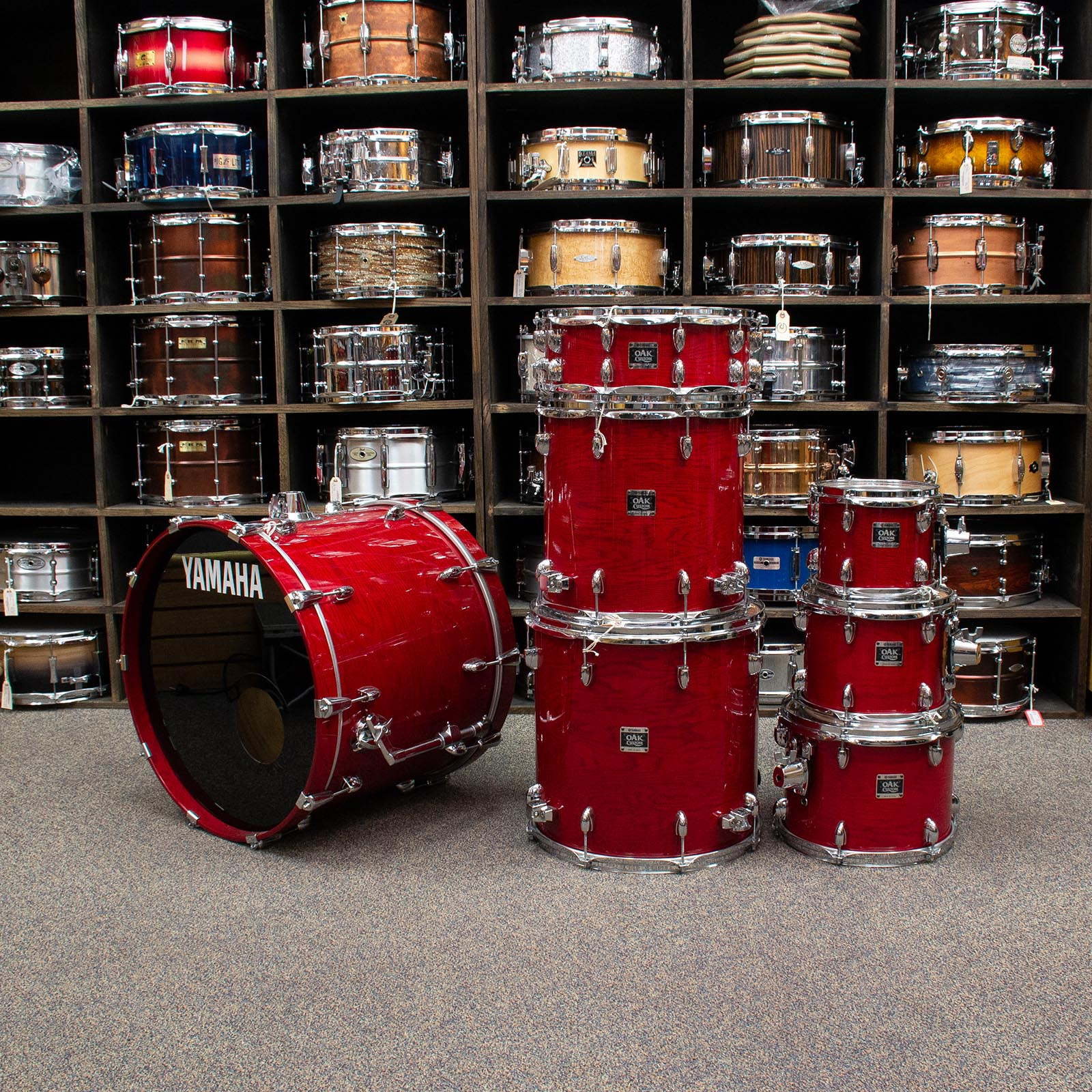 Yamaha 7 Piece Oak Custom - Trans Red - Used