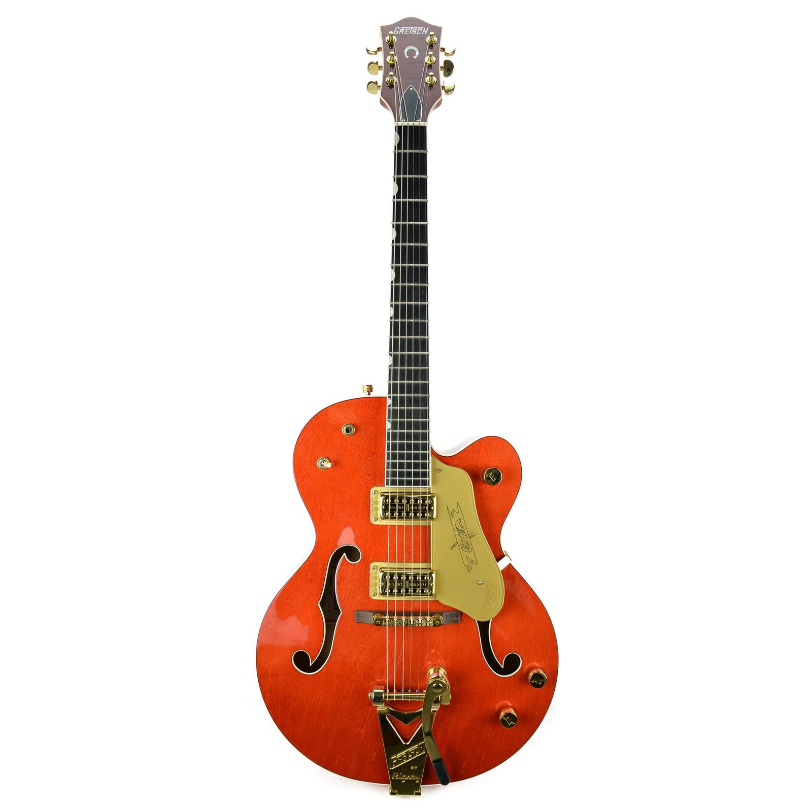Gretsch G6120 Chet Atkins Hollow Body - Ebony Fretboard - Orange Stain - Demo