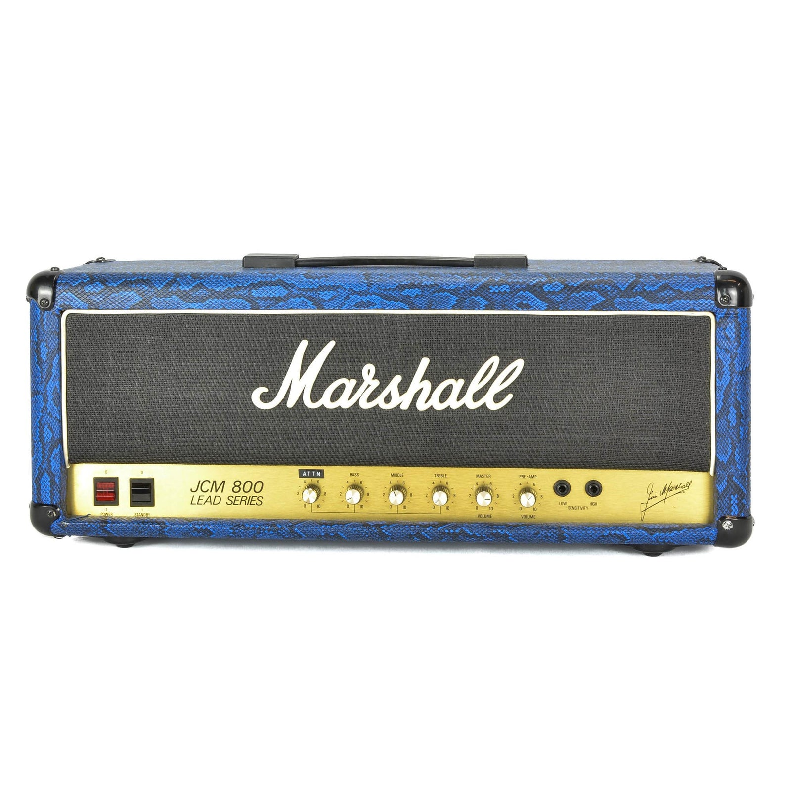 Marshall JCM800 Blue Snakeskin With Attenuator Mod - Used