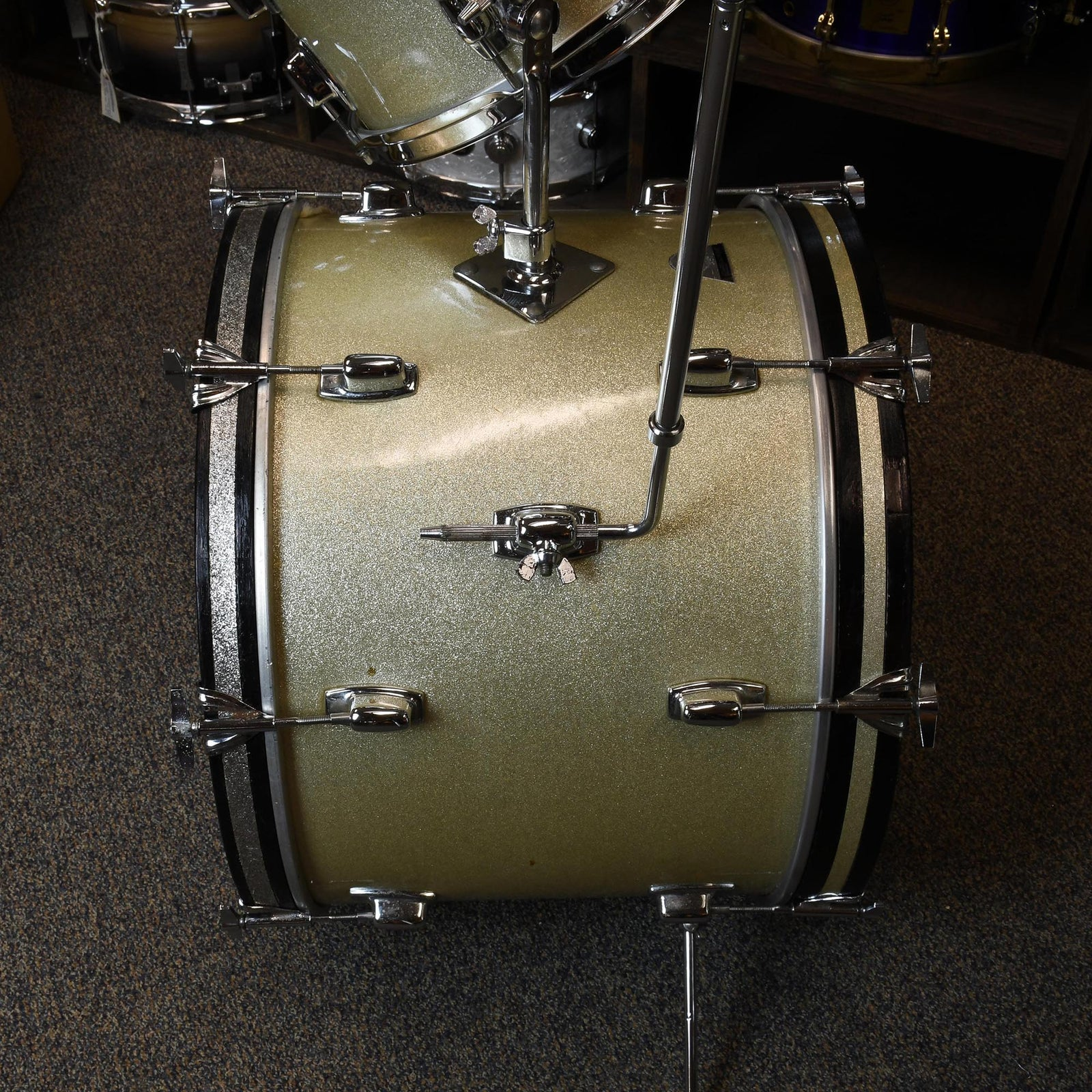 Ludwig 4 Piece 71' Standard - Silver Mist Sparkle - Used