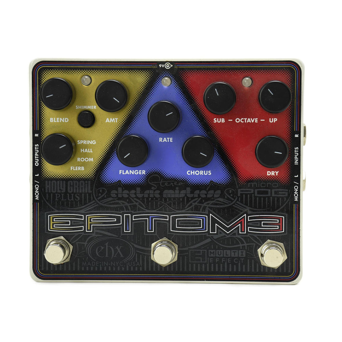 Electro Harmonix Multi-Effects Pedal: Micro Pog, Stereo Electric Mistress, Holy Grail Plus - Used