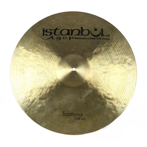 "Istanbul 19"" Agop Traditional Dark Crash - Used"