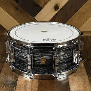 "Ludwig 14x6.5"" Classic Maple - Vintage Black Oyster With Bag - Used"