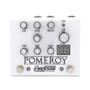 Emerson Custom Pomeroy Boost, Overdrive & Distortion Pedal, White - Used