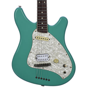 Squier 1997 CIJ Venus Surf Green With Seymour Duncan JB Humbucker - Used