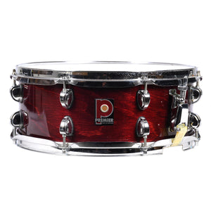 Premiere 14x5.5 Inch Maple Snare - Red Lacquer - Made In England - Used