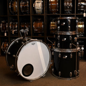 Ludwig Rocker 4 Piece Kit - Black Wrap - Painted Interior - Used
