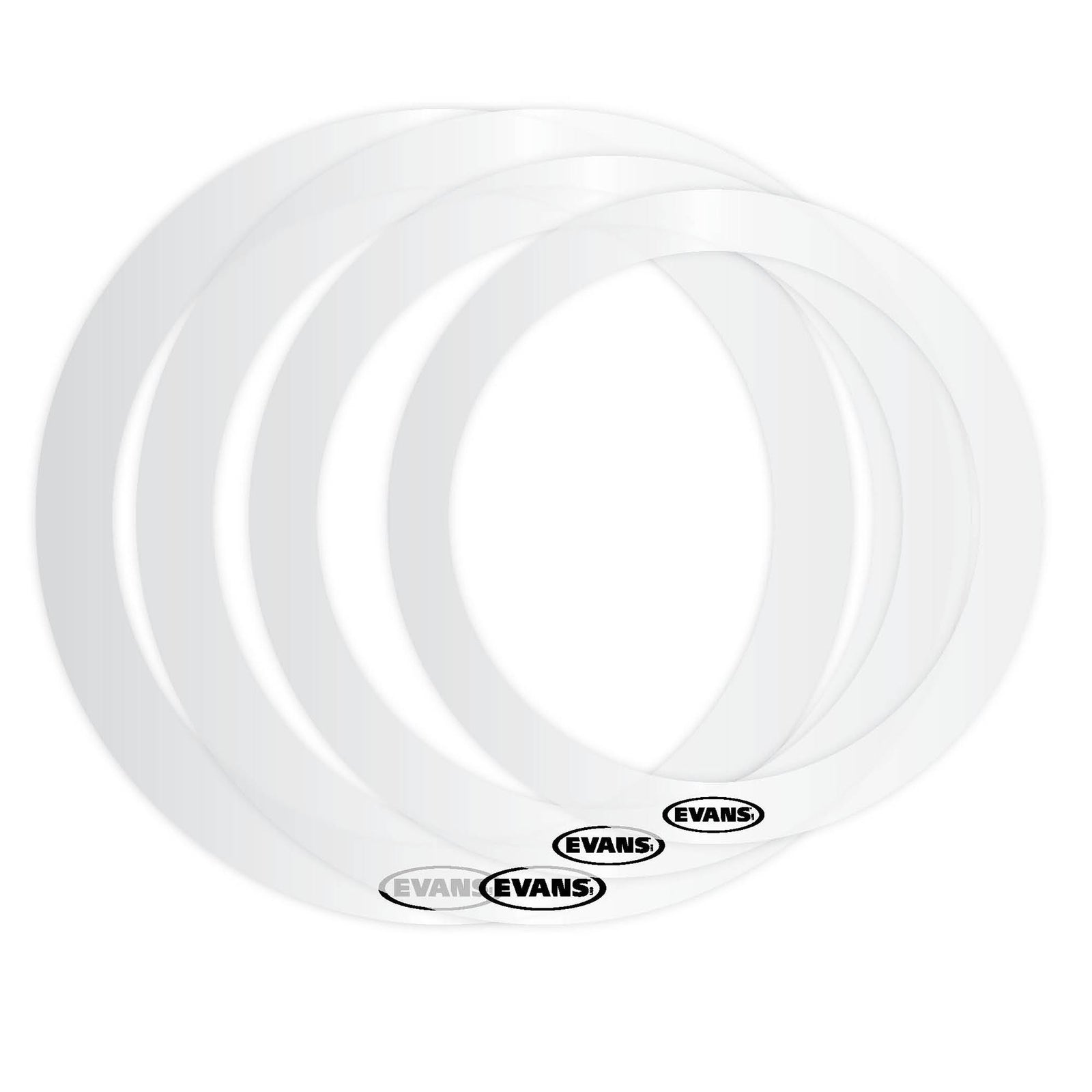 "Evans 10"", 12"", 14"", 14"", Fusion Ring Pack"