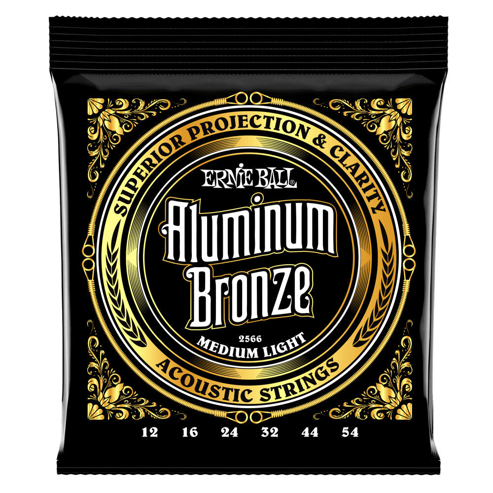 Ernie Ball 12-54 Medium Light Aluminum Bronze Acoustic Strings