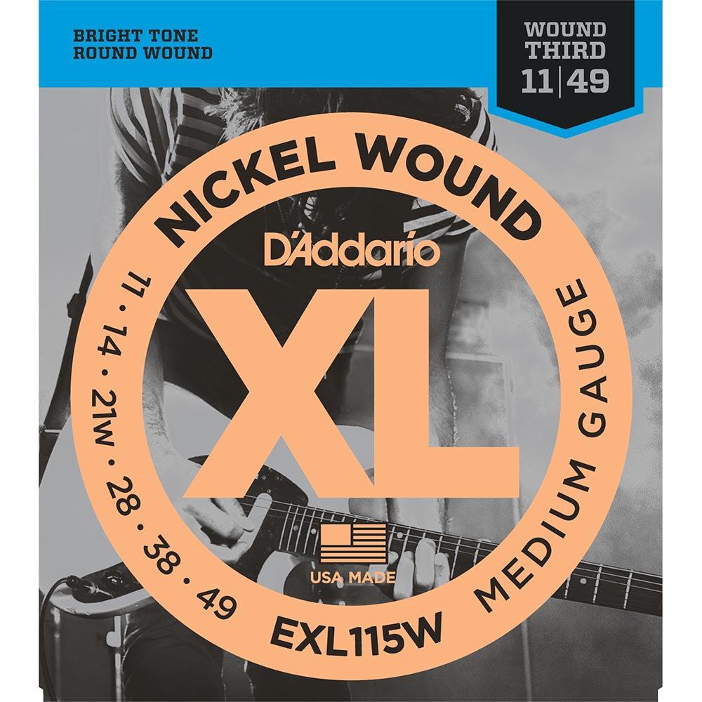 Daddario 11-49 Blues/Jazz Rock Nickel Wound Electric Strings - Wound 3RD