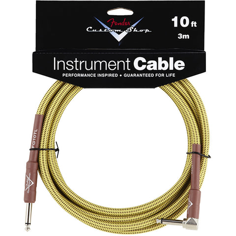 Fender Performance Series Instrument Cable - 18.6' - Angled - Black