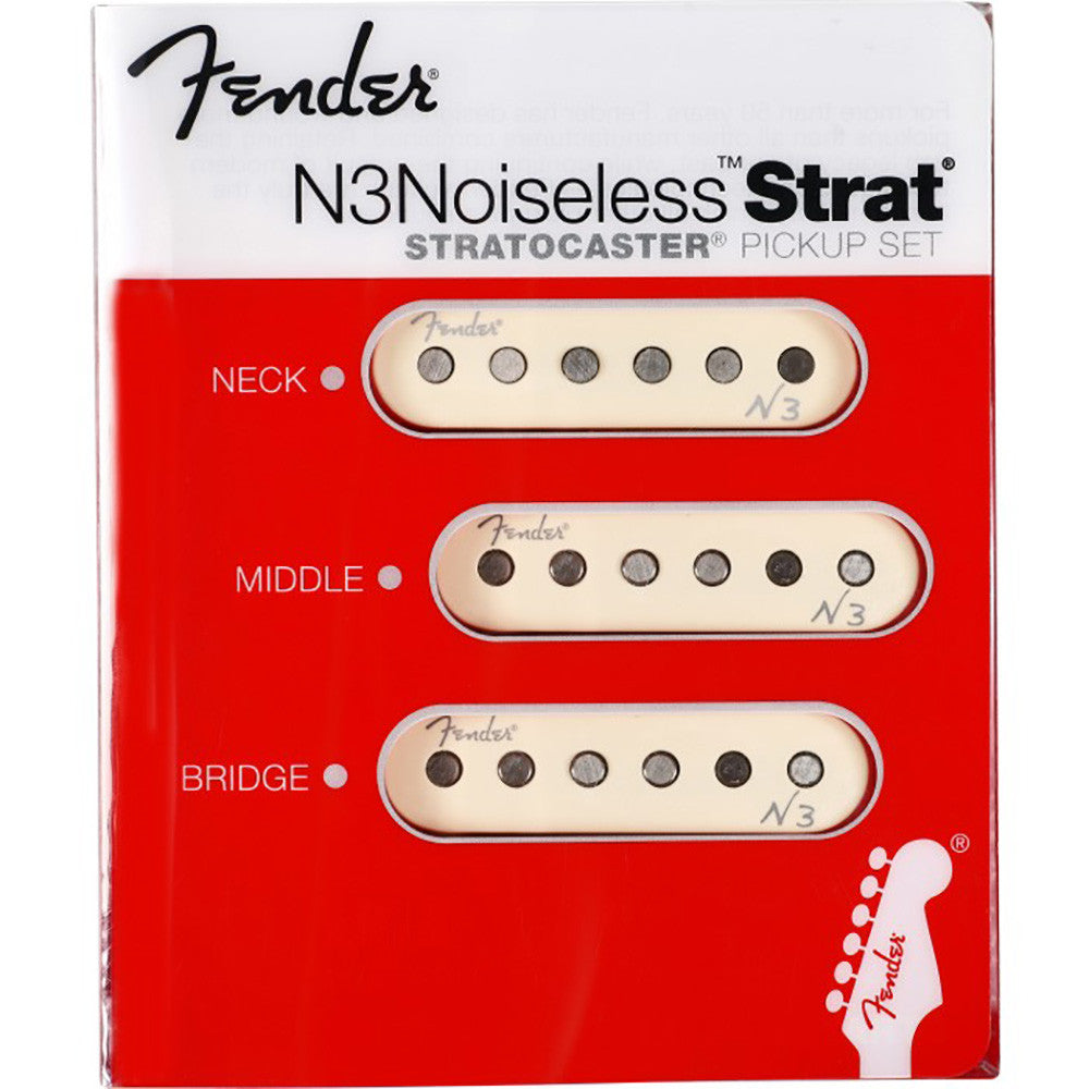 Fender N3 Noiseless Strat Pickups - Set Of 3