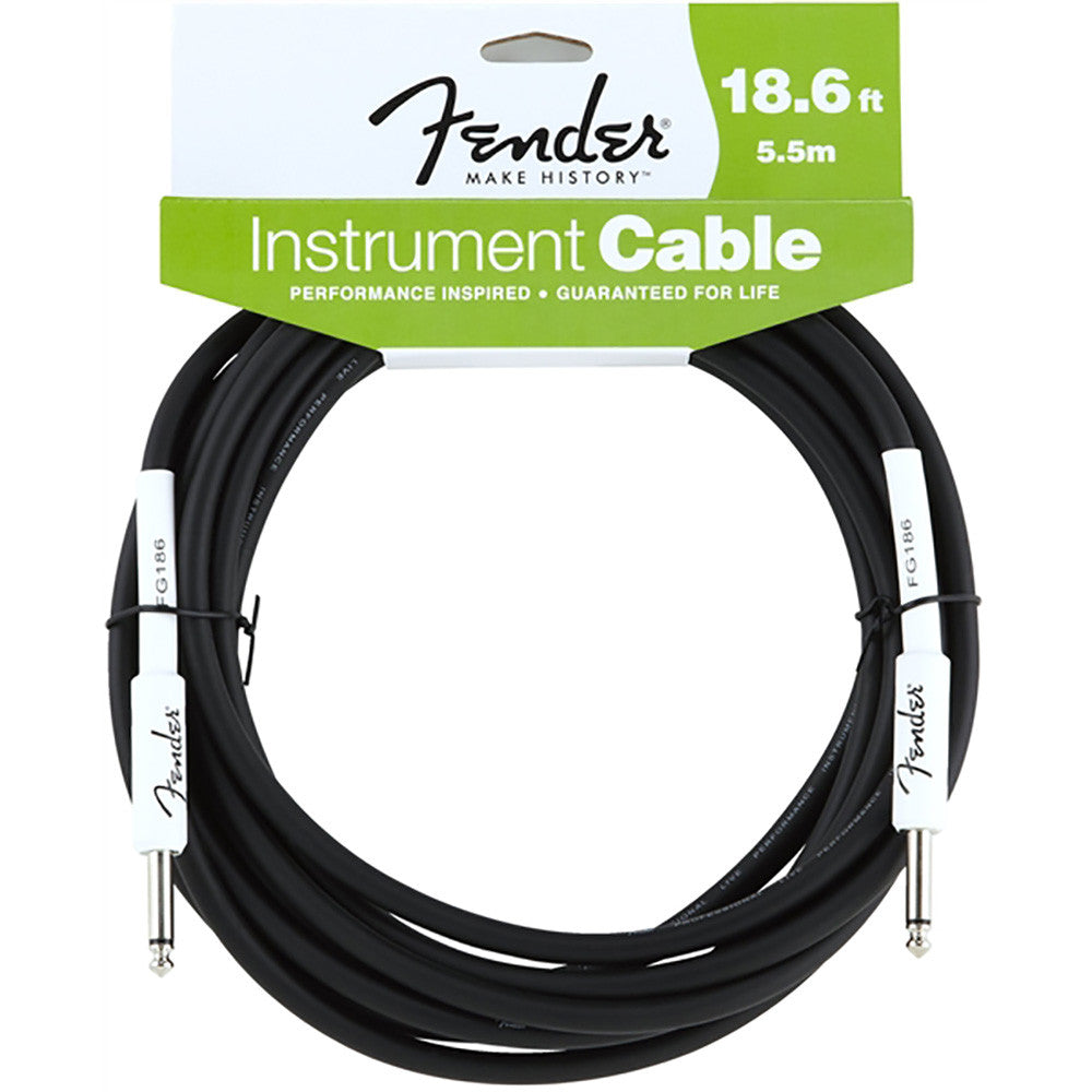 Fender Performance Series Instrument Cable - 18.6' - Black