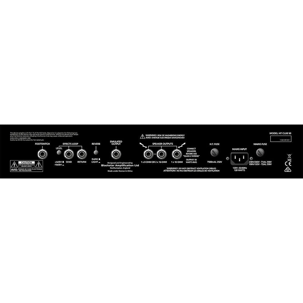 Blackstar HTCLUB50H 50 Watt Tube Head