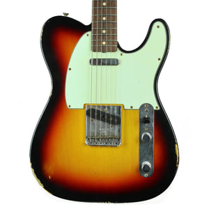 Fender Custom Shop '63 Telecaster Relic - 3 Tone Sunburst - Used