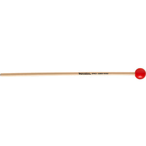 "Innovative Medium Soft Xylophone / Glockenspiel Mallets - 1-1/8"" Red - Rattan"