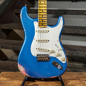 Fender Custom Shop 2016 '57 Stratocaster Heavy Relic Lake Placid Blue Over Pink Paisley - Used