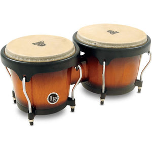 LP Aspire Wood Bongos-Vintage Sunburst - Black HW