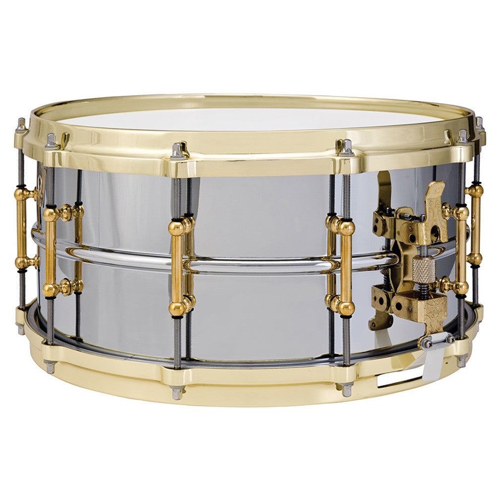 "Ludwig 5X14"" Chrome-Plated Brass Shell Snare W/ Polished Brass Hardware"