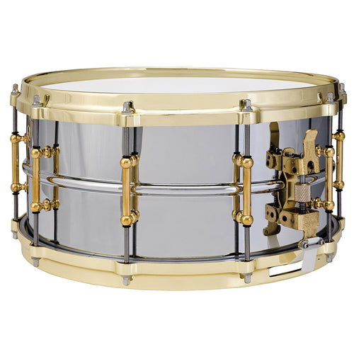 "Ludwig 5x14"" Chrome-Plated Brass Shell Snare With Polished Brass Hardware"