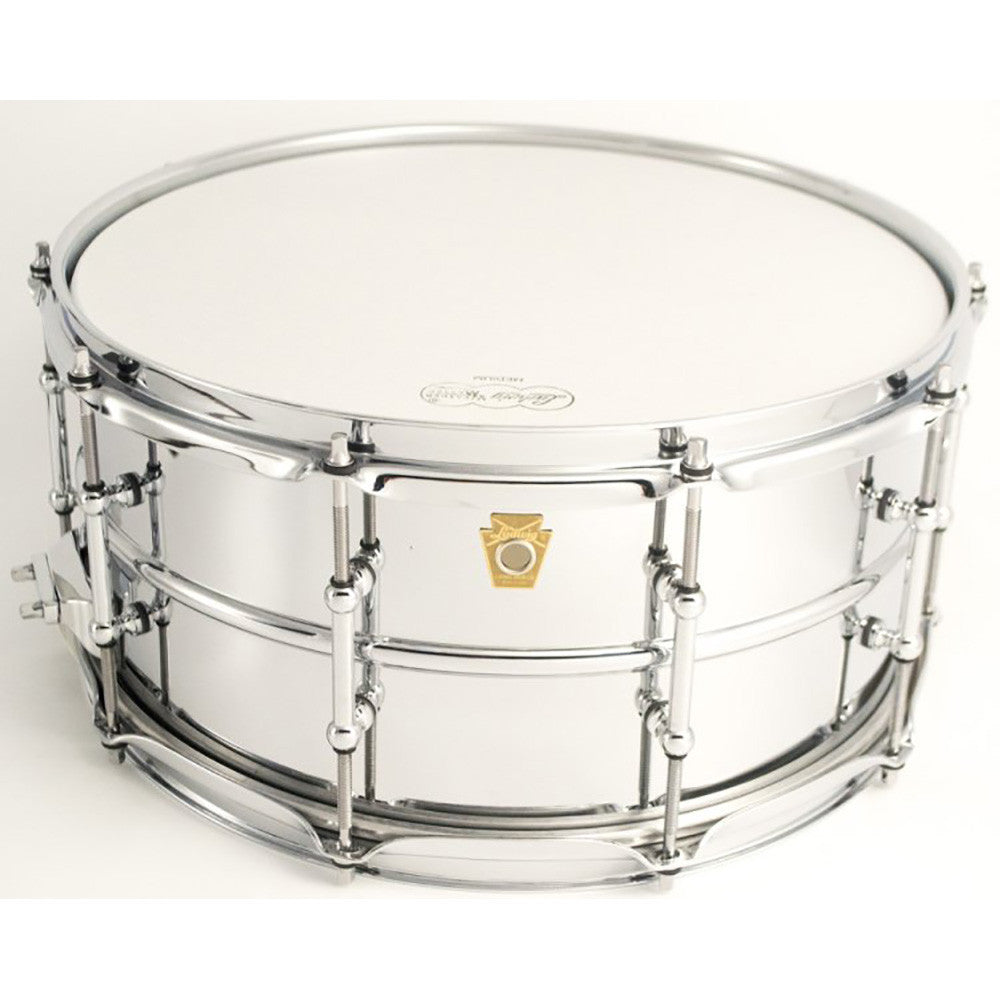 "Ludwig 6.5x14"" Chrome Plated Brass Shell Snare - Smooth Shell - Tube Lugs"