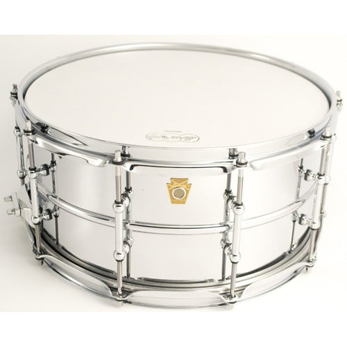 "Ludwig 6.5X14"" Chrome Plated Brass Shell Snare, Smooth Shell, Tube Lugs"