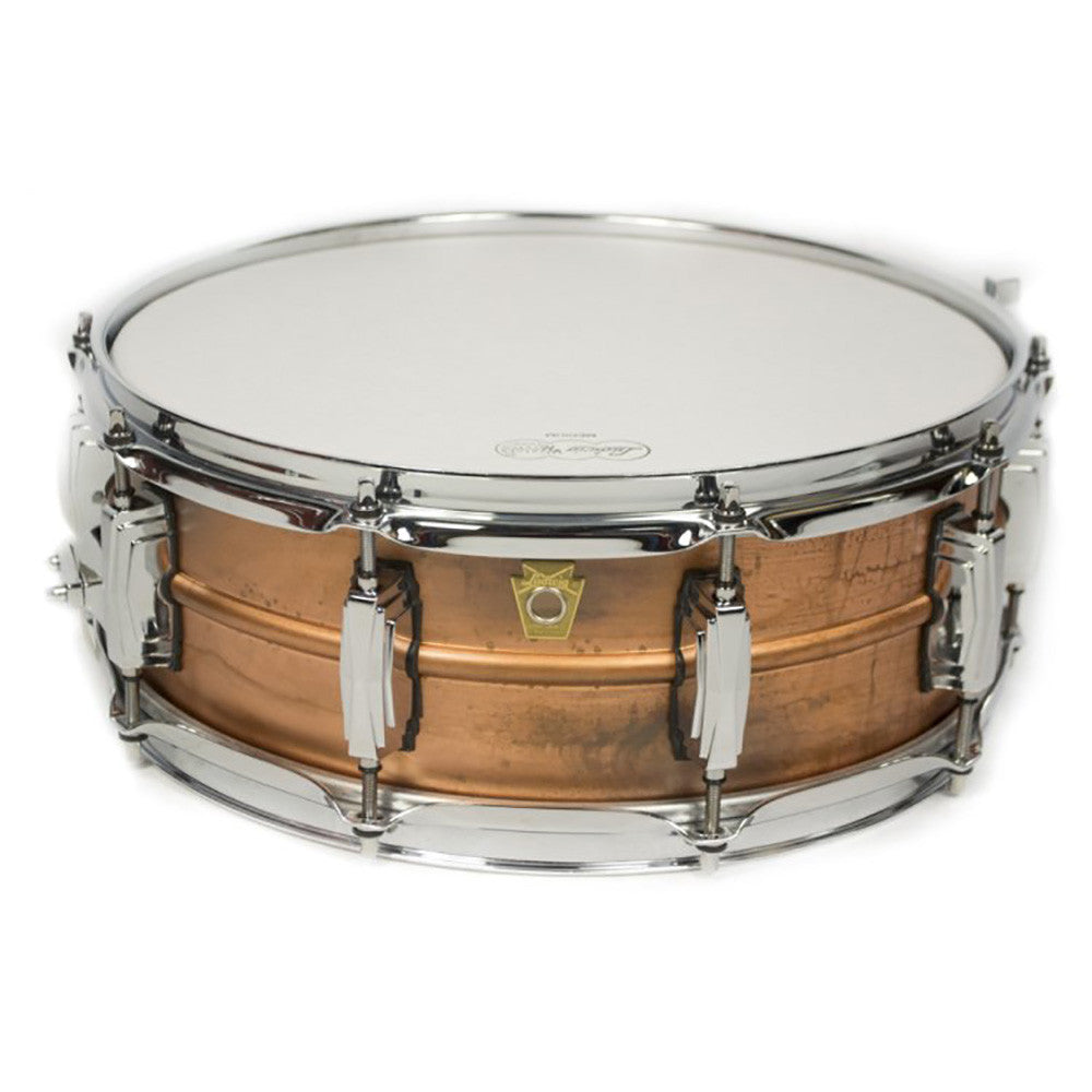 "Ludwig 5x14"" Copper Phonic Snare With Raw Patina Finish - Smooth Raw Shell"