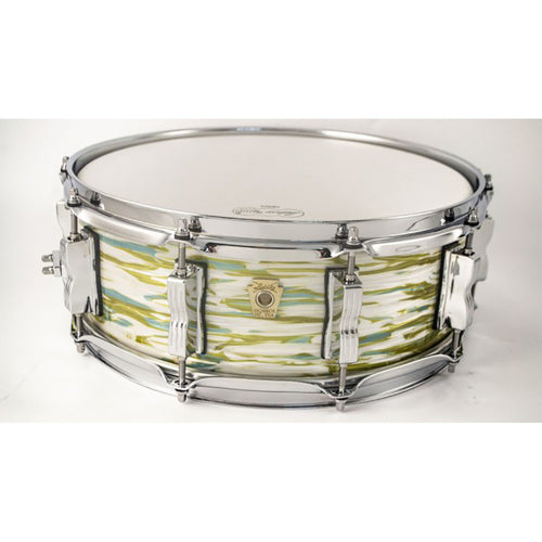 "Ludwig 5X14"" Legacy Classic Custom Snare, 10-Lug, Blue Olive Oyster"