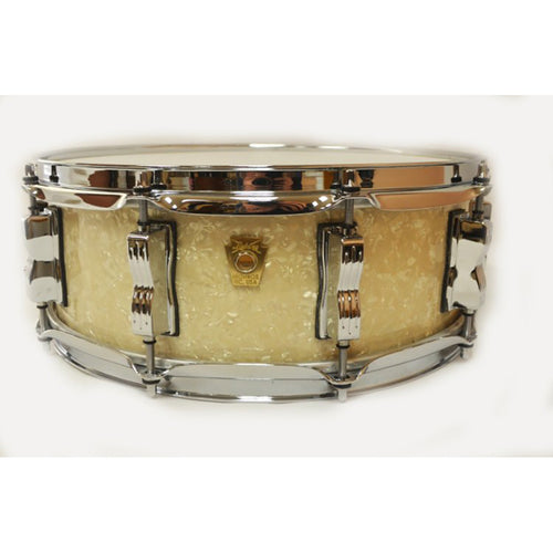 Ludwig 5X14 Legacy Classic Snare, Vintage White Marine