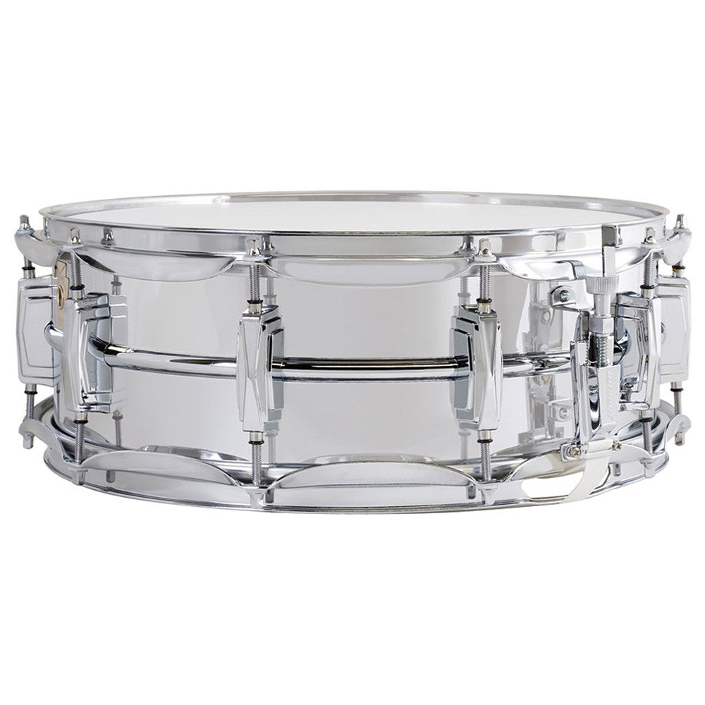 "Ludwig 6.5X14"" Supraphonic Chrome Plated Aluminum Snare, Smooth Shell"