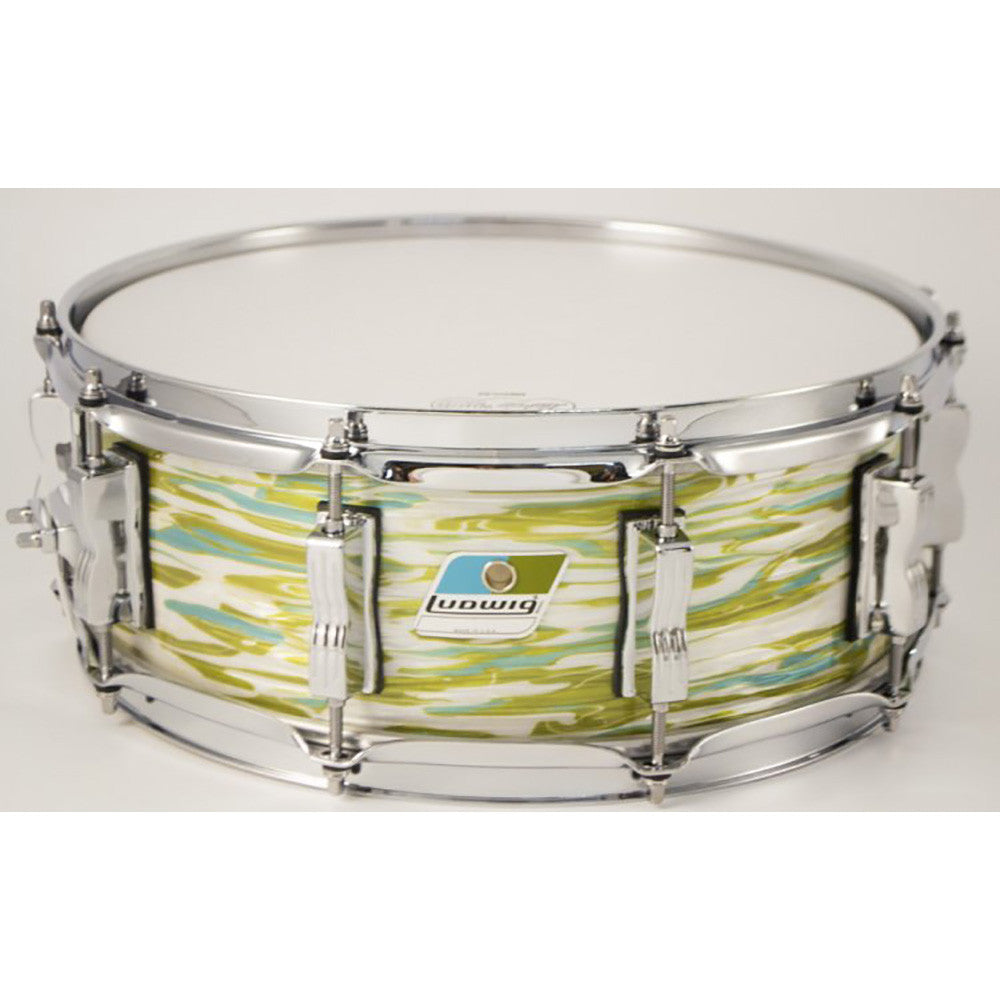 "Ludwig 5x14"" Classic Maple Custom Snare - 10-Lug - Blue Olive Oyster"