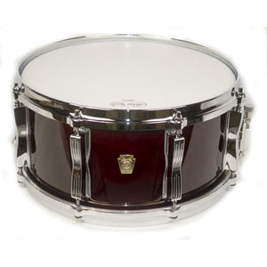 "Ludwig 6.5x14"" Classic Maple Custom 8-Lug Snare - Cherry Stain"