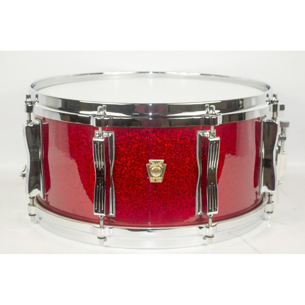 "Ludwig 6.5x14"" Classic Maple Custom 8-Lug Snare - Red Sparkle"