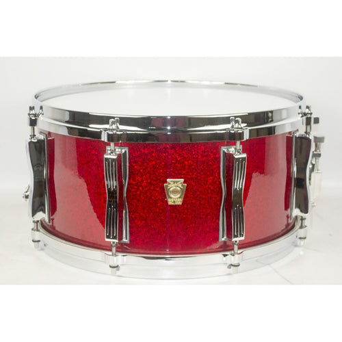 "Ludwig 6.5X14"" Classic Maple Custom 8-Lug Snare, Red Sparkle"