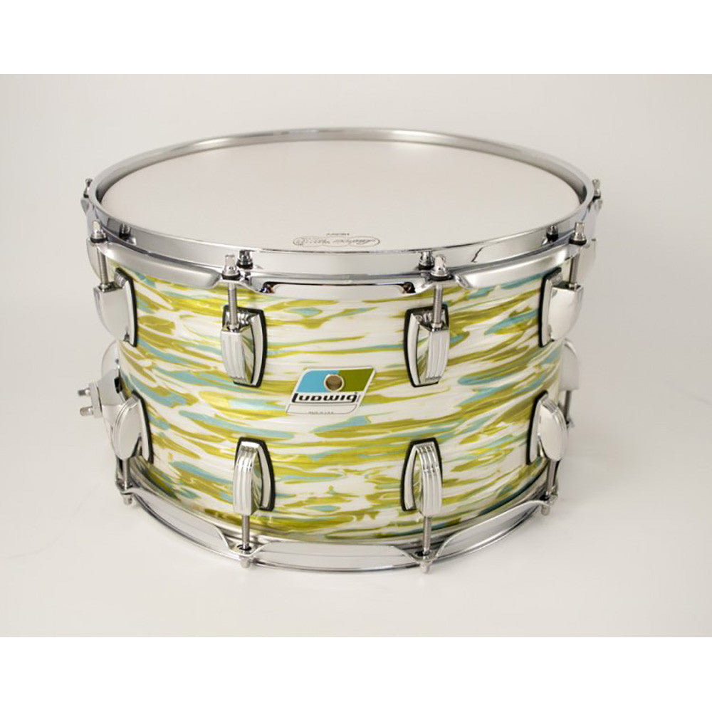 "Ludwig 8x14"" Classic Maple Custom Snare - Blue Olive Oyster"