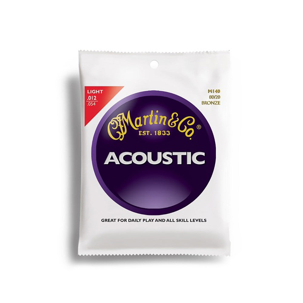 Martin 12-54 Acoustic Guitar Strings - Light-Gauge 80/20