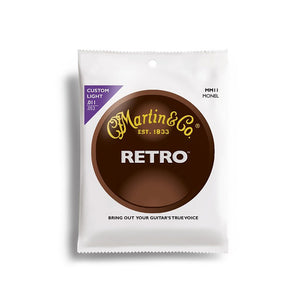 Martin .011-.052 Retro Monel Acoustic Guitar Strings