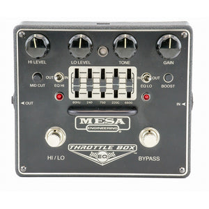 Mesa Boogie Throttle Box EQ - Dual-Mode Distortion With Assignable 5-Band Graphic E