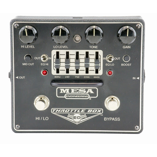 Mesa Boogie Throttle Box Eq, Dual-Mode Distortion W/ Assignable 5-Band Graphic E